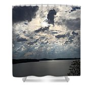 View Across Wappapello Lake IIi Shower Curtain