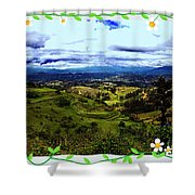 View And Inca/canari Ruins On Cojitambo II Shower Curtain