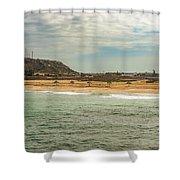View At La Loberia Beach In Salinas, Ecuador  Shower Curtain