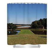 View Down To The Ashley River At Middleton Place Plantation Charleston Shower Curtain