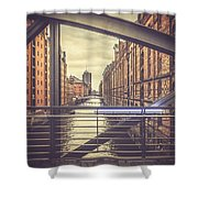 View From A Bridge Shower Curtain