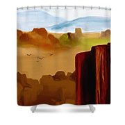 View From A Butte Shower Curtain