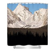 View From A Frozen Lake  Shower Curtain
