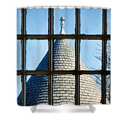 View From A New England Turret Shower Curtain