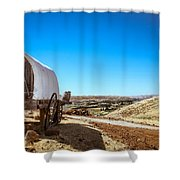 View From A Sheep Herder Wagon Shower Curtain