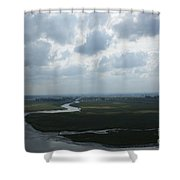 View From Abbey On Mont St. Michel Shower Curtain