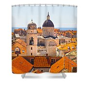 View From Above Of Dubrovnik Shower Curtain