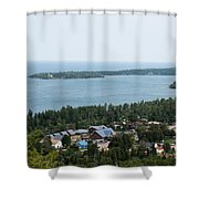 View From Above Shower Curtain