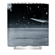 The View From Airplane Bw Shower Curtain