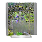 View From An Arbor Shower Curtain