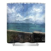 View From Bermuda Naval Fort Shower Curtain