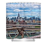 View From Brooklyn Bridge Shower Curtain