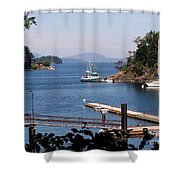 View From Buchart Gardens Shower Curtain