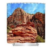 View From Canyon Overlook In Zion National Park Shower Curtain