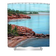 View From Cape Bear Shower Curtain