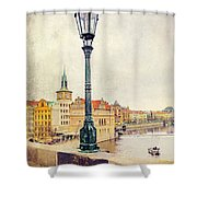 View From Charles Bridge Shower Curtain