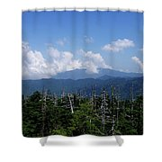 View From Clingman's Dome Shower Curtain