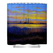 View From Clontarf - Dublin Shower Curtain