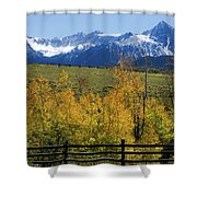 View From Hwy 62, Ouray County, Co Shower Curtain