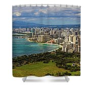 View From Diamond Head Shower Curtain