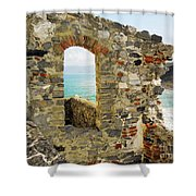 View From Doria Castle In Portovenere Italy Shower Curtain