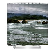 View From Ecola Shower Curtain