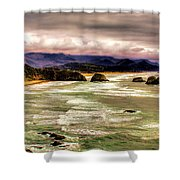View From Ecola II Shower Curtain