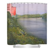View From Edmund Pettus Bridge Shower Curtain