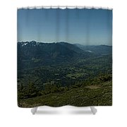 View From Elk Mountain Shower Curtain