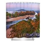View From Greens Cave Bluff Shower Curtain