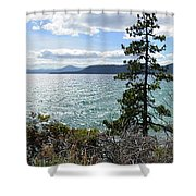 View From Incline Village Shower Curtain