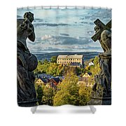 View From Kuks Hospital - Czechia Shower Curtain