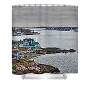 View From Marblehead Lighthouse Shower Curtain
