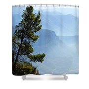 View From Montserrat, Spain Shower Curtain
