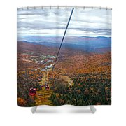 View From Mount Mansfield In Autumn Shower Curtain