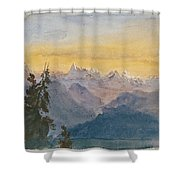 View From Mount Pilatus Shower Curtain