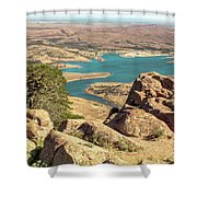View From Mt Scott Shower Curtain