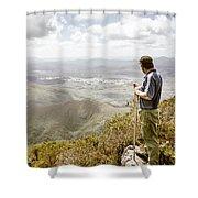 View From Mt Zeehan Tasmania Shower Curtain