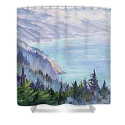 View From Nepenthe Shower Curtain