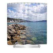View From North Wall - Lyme Regis Shower Curtain