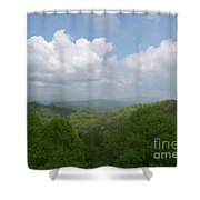 View From Ober Gatlinburg Shower Curtain