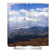 View From Pikes Peak 1964 Shower Curtain