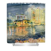 View From Quay Singapore Shower Curtain