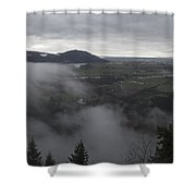 View From Raven Bluffs Shower Curtain