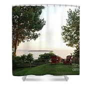 View From Ring Dang Doo South Hero Vermont Shower Curtain