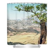 View From Ronda Spain Shower Curtain