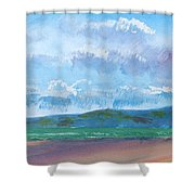 View From Sandy Bay Exmouth Shower Curtain