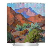 View From Santa Rosa - San Jacinto Visitor Center Shower Curtain