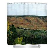 View From Shinning Bank  Shower Curtain