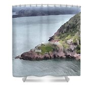 View From Signal Hill Shower Curtain